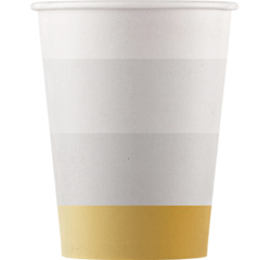 METALLIC PAPER CUPS 200ML