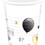 MILESTONE BDAY BALLOON PLASTIC CUPS 200ML