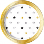 MILESTONE STARS  PAPER PLATES LARGE 23CM