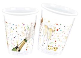 SPRKLING CELEBRATION PLASTIC CUPS 200ML