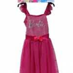 BARBIE PINK SILVER DOT DRESS AGE 3 – 4