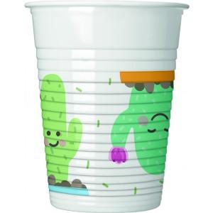 CACTUS PLASTIC CUPS 200 ML
