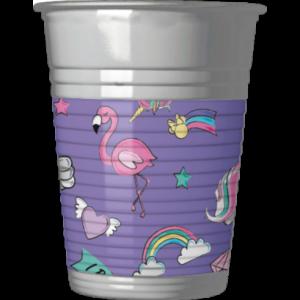 MINNIE UNICORN PLASTIC CUPS 200 ML
