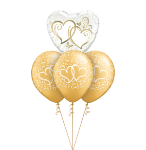 Entwined Hearts Gold Mini Layer