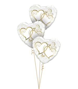 Entwined Hearts Gold Triple