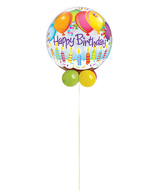 Birthday Balloons & Candles Bubble