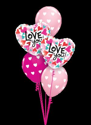 Love You Hearts Hearts Classic