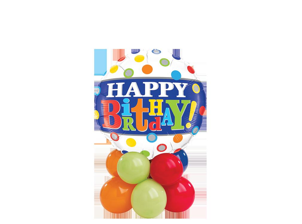 Birthday Band & Dots Mini