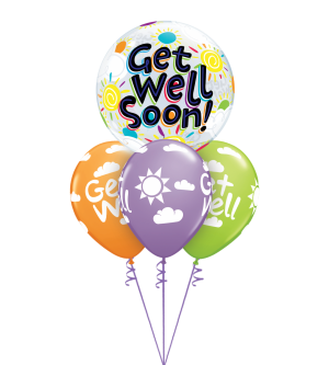 Get Well Soon Sunshine Bubble Layer