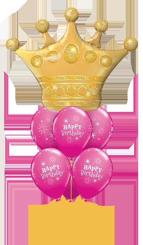 Golden Crown Pink Sparkle Luxury