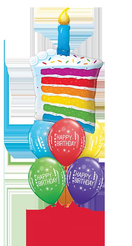 Rainbow Cake & Candles Luxury