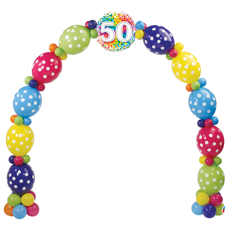 50th Birthday Confetti Arch