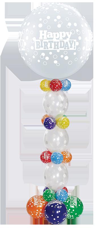 Birthday Confetti Dots Giant Column