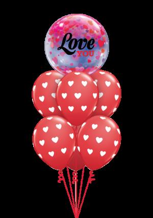 Love You Confetti Bubble Luxury
