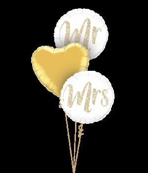 Mr & Mrs Glitter Gold Triplets