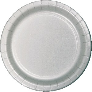SOLID COLOUR SILVER PLATES 7″