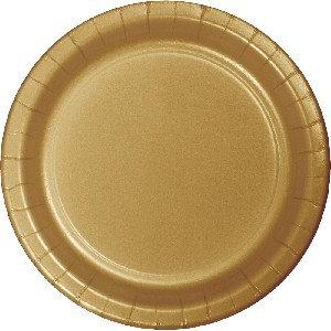 SOLID COLOUR GOLD PLATES 7″