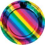 RAINBOW FOIL PLATE 7″
