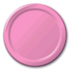 SOLID COLOUR CANDY PINK PLATES 7″