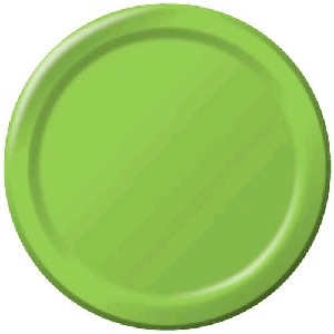 SOLID COLOUR FRESH LIME PLATES 7″