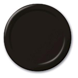 SOLID COLOUR BLACK VELVET PLATES 7′