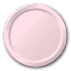 SOLID COLOUR CLASSIC PINK PLATES 7″