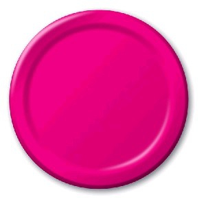 SOLID COLOUR HOT MAGENTA PLATES 7′