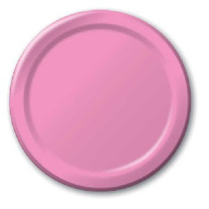SOLID COLOUR CANDY PINK PLATES 9″