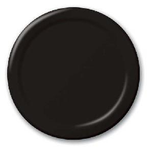 SOLID COLOUR BLACK VELVET PLATES 9″