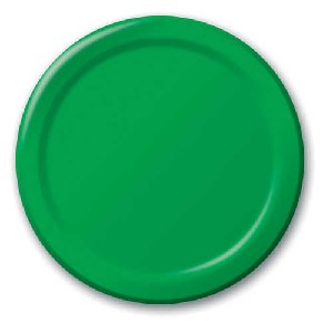 SOLID COLOUR EMARALD GREEN PLATES