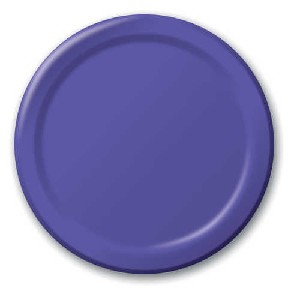SOLID COLOUR PURPLE PLATES 9″
