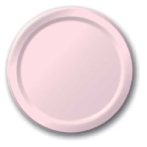 SOLID COLOUR CLASSIC PINK PLATES 9″