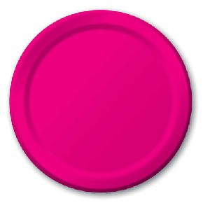 SOLID COLOUR HOT MAGENTA PLATES 9″