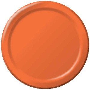 SOLID COLOUR SUNKISSED ORANGE PLATES