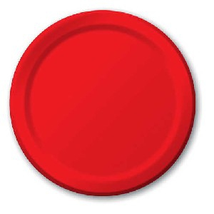 SOLID COLOUR CLASSIC RED PLATES 9″
