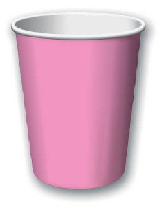 SOLID COLOUR CANDY PINK CUPS