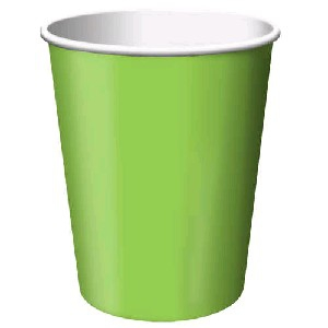 SOLID COLOUR FRESH LIME CUPS