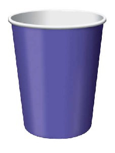 SOLID COLOUR PURPLE CUPS