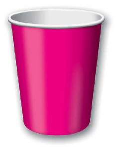SOLID COLOUR HOT MAGENTA CUPS