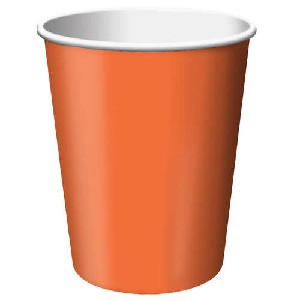 SOLID COLOUR SUNKISSED ORANGE CUPS