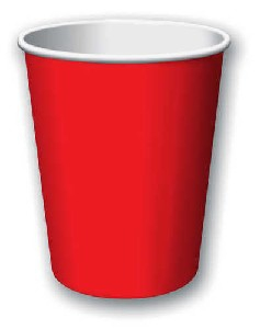 SOLID COLOUR CLASSIC RED CUPS