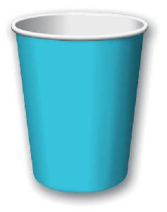 SOLID COLOUR BERMUDA BLUE CUPS