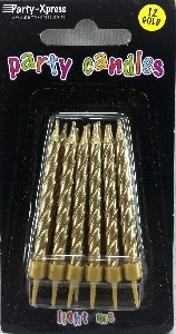 CANDLES GOLD 12S