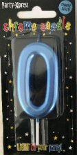 CANDLES CHROME BLUE NUMBER 0