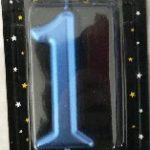 CANDLES CHROME BLUE NUMBER 1