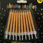 CANDLES CHROME GOLD 10s