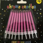 CANDLES CHROME PINK 10s