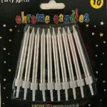 CANDLES CHROME SILVER 10s