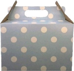PARTY BOX POLKA LIGHT BLUE