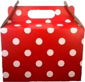 PARTY BOX POLKA RED